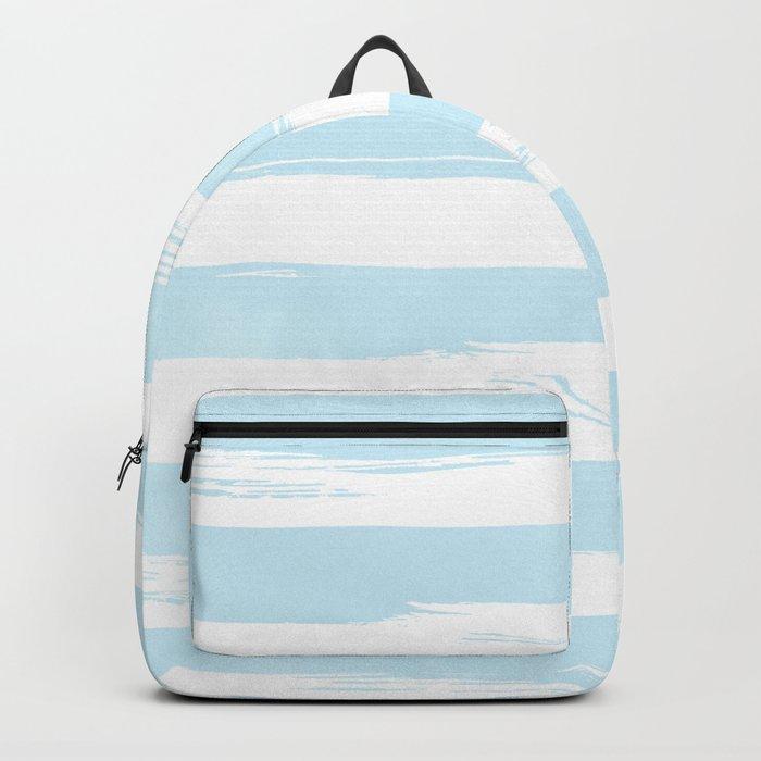 Pastel Blue Stripes Backpack