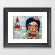 Anchor Girl Framed Art Print