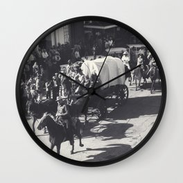 Vintage Houston Rodeo Parade Cowboys and Wagons Wall Clock