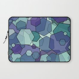 Converging Hexes - teal and purple Laptop Sleeve