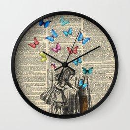 Alice In Wonderland - Let The Adventure Begin Wall Clock