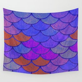 Multicolor Scales Wall Tapestry