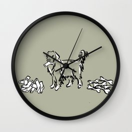Bone Boycott | Green Tan Wall Clock