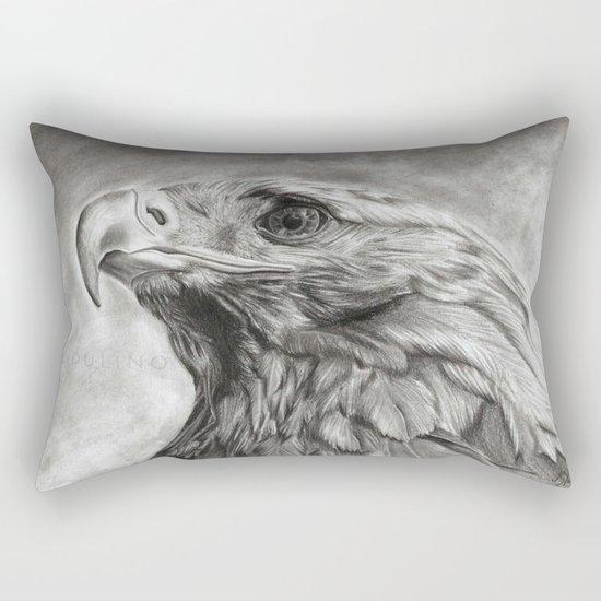 Eagle pencil drawing Rectangular Pillow