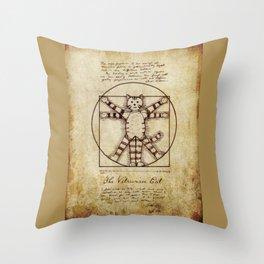 Vitruvian Cat Throw Pillow