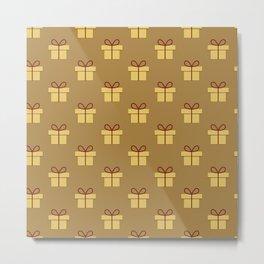 Christmas gift pattern Metal Print