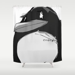 a penguin Shower Curtain