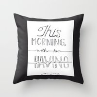 johnny cash Throw Pillows featuring Johnny Cash by Kami Sparks