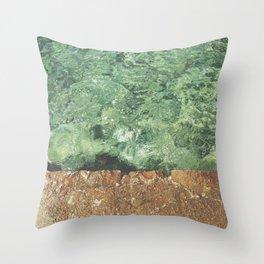 Sea contrast Throw Pillow