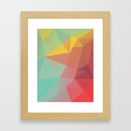 Geometric X Framed Art Print