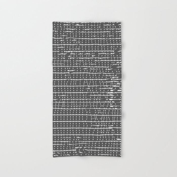 Shower Towel Broke: Broken Stripes & Dots Hand & Bath Towel By Duckyb