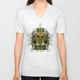 peacemaker falls asleep on the silver star Unisex V-Neck