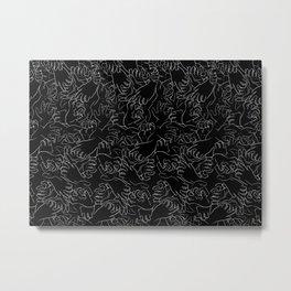 Hands On Black Metal Print