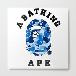bape blue Metal Print