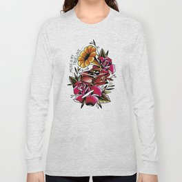 Traditional Roses and Phonograph Long Sleeve T-shirt