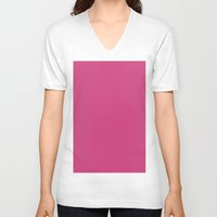 pantone V-neck T-shirts featuring Magenta (Pantone) by List of colors