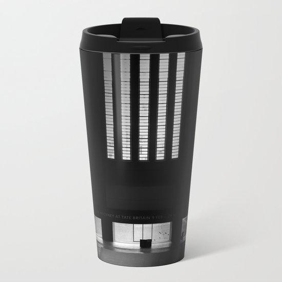 black white photo Metal Travel Mug