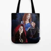 ouat Tote Bags featuring Warrior Women of OUAT by Christine Ring