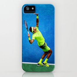 Del Potro Tennis Serve iPhone Case