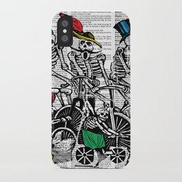 Calavera Cyclists iPhone Case
