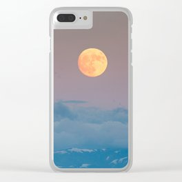 Full super moon December 2017 Clear iPhone Case
