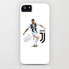 Ronaldo Juventus 2018 iPhone Case