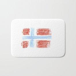 flag of norway 9 – Chalk version  snow,scandinavia,scandinavian,norwegian,oslo Bath Mat