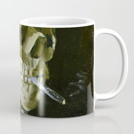Vincent van Gogh - Head of a skeleton with a burning cigarette - Original white Coffee Mug