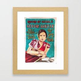 Begum Akhtar Framed Art Print
