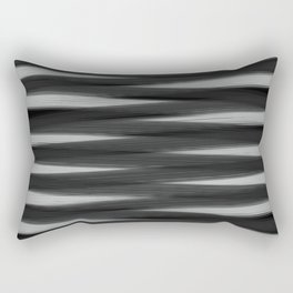 Black and White High Contrast Pattern Rectangular Pillow