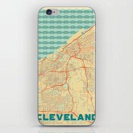 Cleveland Map Retro iPhone Skin