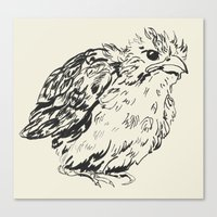 sparrow Canvas Prints featuring sparrow by dace k