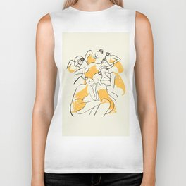 The Ballerinas-Minimal Line Drawing Biker Tank