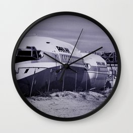 Panam Airplane Graveyard Wall Clock