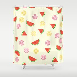 Lemons and watermelons Shower Curtain