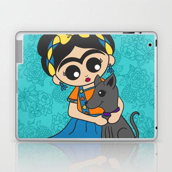 Little Dog Friend Laptop & iPad Skin