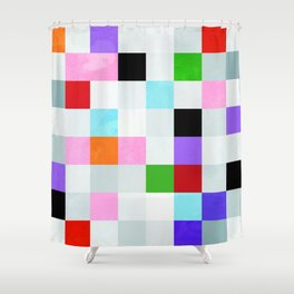 chequers modern cool Shower Curtain