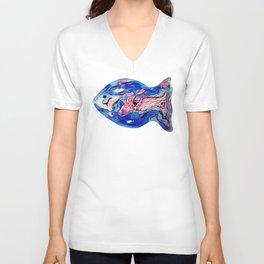 Fish Watercolor III Unisex V-Neck