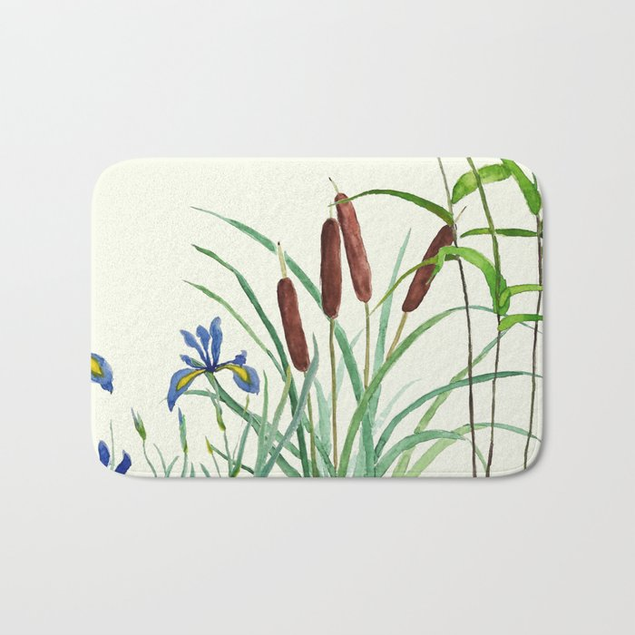 pond-side elegance Bath Mat