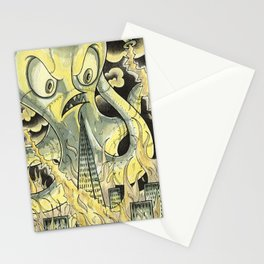 Steamechanical Octopus Stationery Cards