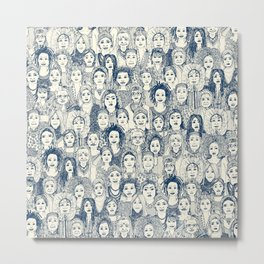 WOMEN OF THE WORLD BLUE Metal Print