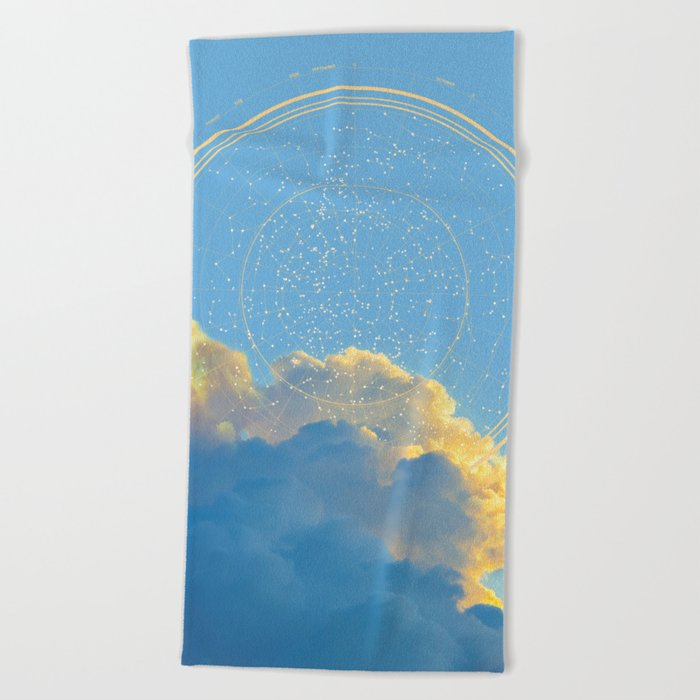 Create Your Own Constellation Beach Towel