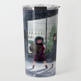 The weather outside is frightful Travel Mug