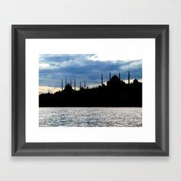 Sultanahmet Camii Skyline Istanbul Turkey Framed Art Print