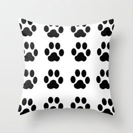 claw black foot chat paw animals Throw Pillow