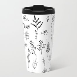 Hand drawn flowers collection Travel Mug