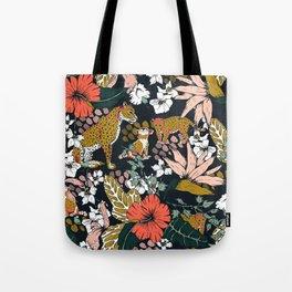 Animal print dark jungle Tote Bag