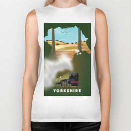 Yorkshire Travel poster Biker Tank