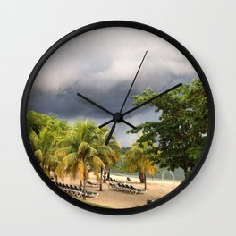 The Jamaican Storm Wall Clock