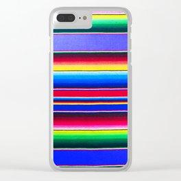 Bright Blue Serape Clear iPhone Case
